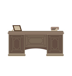 Vintage wooden table vector