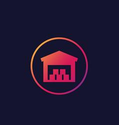Warehouse building icon vector