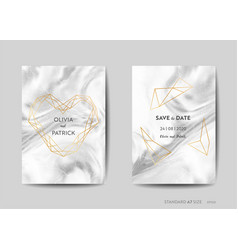 wedding invitation cards art deco save the date vector image