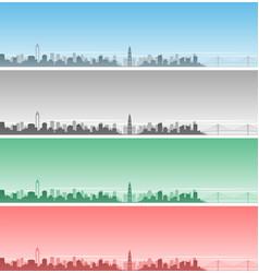wenzhou skyline event banner vector image