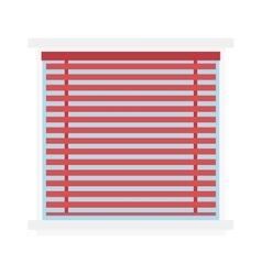 Window jalousie shutter background curtain blinds vector image