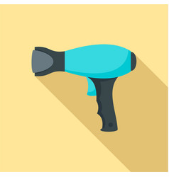 Woman hair dryer icon flat style vector