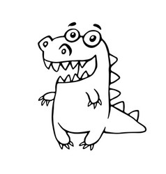 cartoon friendly dragon vector image