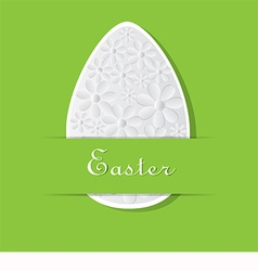 Green card for easter vector