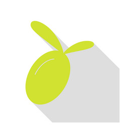 olive sign pear icon with flat style vector image vector image