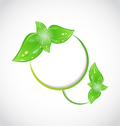 Abstract frame with eco green leaves vector image vector image