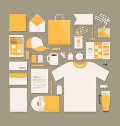 business corporate identity template design vector image