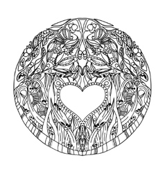 Decorative hand pattern with the image of forest vector image