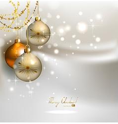elegant glimmered Christmas vector image