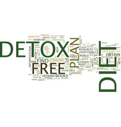 free detox diet text background word cloud concept vector image vector image
