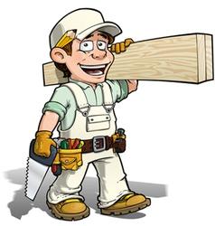 Handyman Carpenter White vector image vector image
