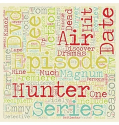 Hunter season 2 dvd review text background vector