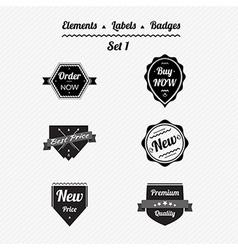 Set 1 elements labels and badges vector image