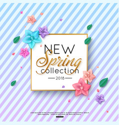Spring new collection background decorated vector