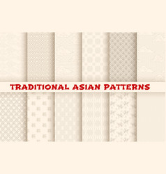 asian chinese japanese seamless patterns vector image