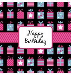 birthday wrapping vector image