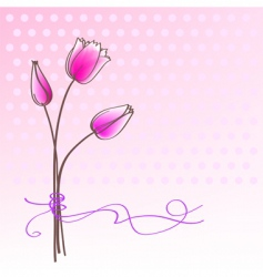 greeting floral card vector image vector image