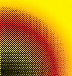 halftone warm vector image vector image