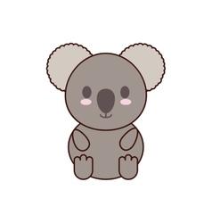 Koala kawaii cute animal icon vector