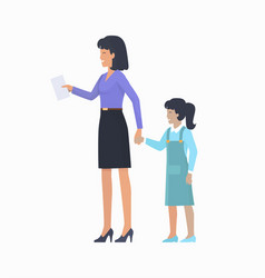 mother with daughter icon vector image vector image