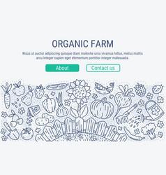 organic farm vector image