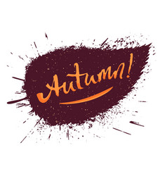 autumn hand lettering vector image
