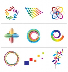 colorful elements vector image