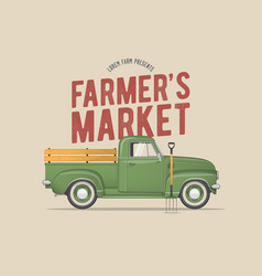 farmers market themed vector image vector image