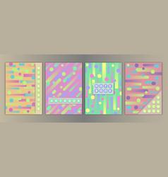 geometric cover set vector image