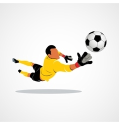 Little goalkeeper icon vector image vector image