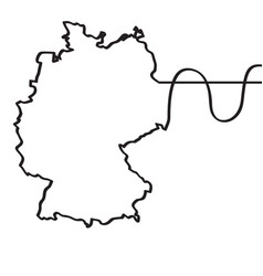 map of germany continous line vector image