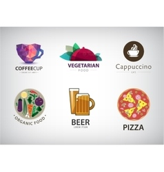 Set of food restaurant logo vector