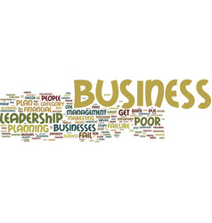 The chief cause of business failure and success vector