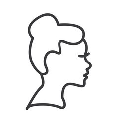 woman profile line icon sign vector image