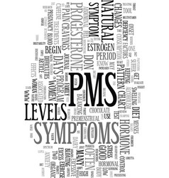 you don t have to suffer with pms text word cloud vector image vector image