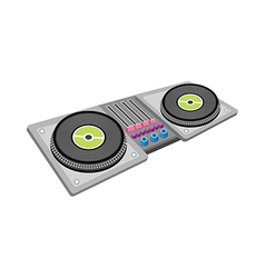 A view of record player vector