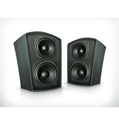 Acoustic speakers in plane wooden body vector image vector image