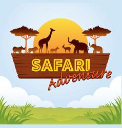 african safari adventure sign vector image