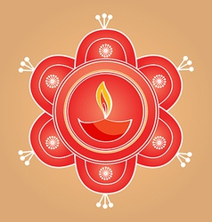 Artistic diwali diya background vector