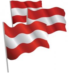 austria 3d flag vector image