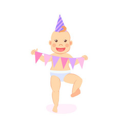 bamilestones celebrate first birthday party vector image