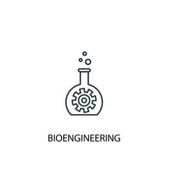bioengineering concept line icon simple element vector image