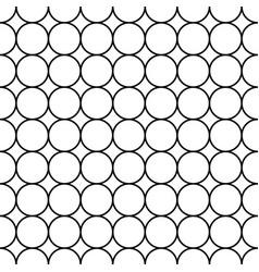 black circle japanese seamless on white vector image