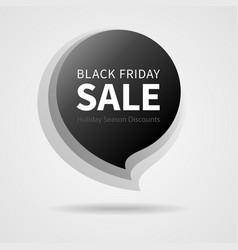 black friday sale isolated black sticker vector image