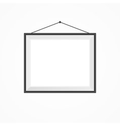 Blank frame on a white vector