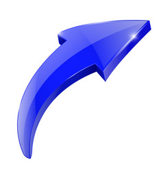 Blue arrow shiny web icon vector