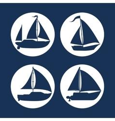 Boat icon design vector