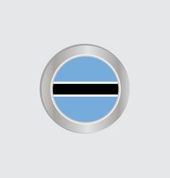 Botswana flag is horizontally isolated vector