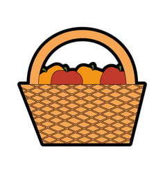 Camping basket cartoon vector
