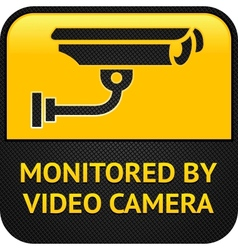 Cctv pictogram web button vector
